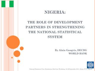 NIGERIA: t he role of development partners in strengthening the national statistical system
