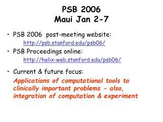 PSB 2006  Maui Jan 2-7