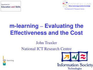 m-learning  –  Evaluating the Effectiveness and the Cost