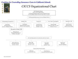 CICCS  Organizational Chart