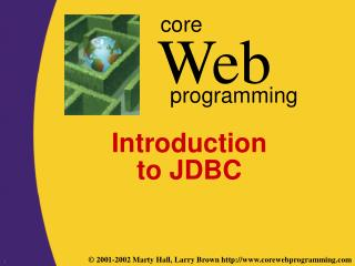 Introduction to JDBC
