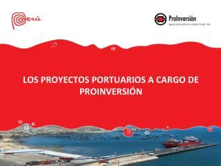 LOS PROYECTOS PORTUARIOS A CARGO DE PROINVERSIÓN