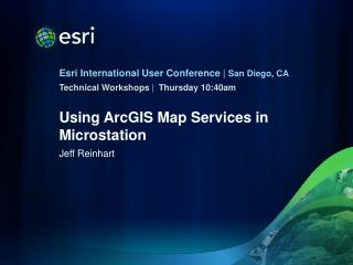 Using ArcGIS Map Services in Microstation