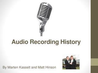Audio Recording History