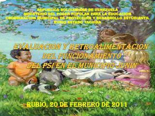 RUBIO, 20 DE FEBRERO DE 2011