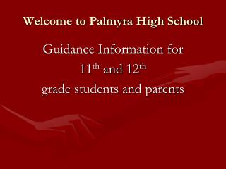 Welcome to Palmyra High School