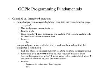 OOPic Programming Fundamentals