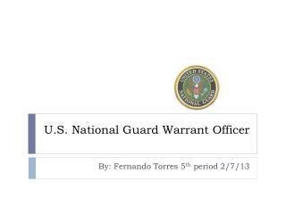 U.S. National  Guard Warrant Officer
