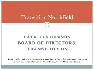 Transition Northfield
