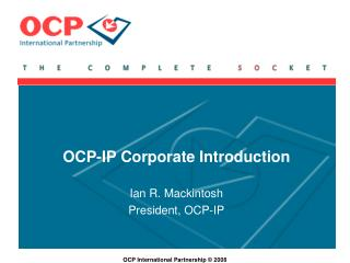OCP-IP Corporate Introduction