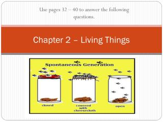 Chapter 2 – Living Things