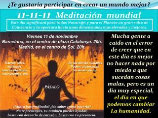 11-11-11   Meditación  mundial