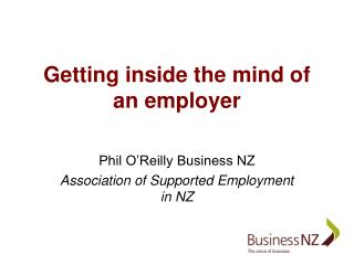 Getting inside the mind of an employer