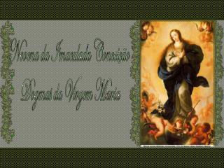 Novena da Imaculada Conceição  Dogmas da Virgem Maria