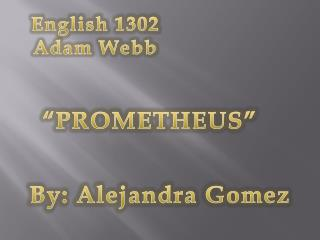 English 1302 Adam Webb
