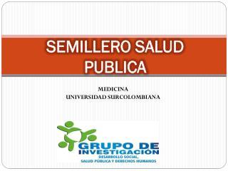 SEMILLERO SALUD PUBLICA
