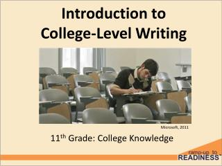 Introduction to College-Level Writing