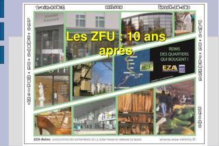Les ZFU : 10 ans après