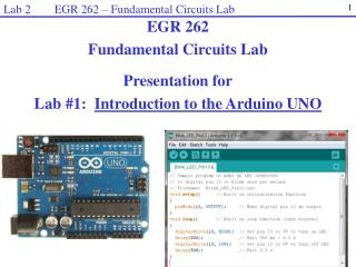 Lab 2        EGR 262 – Fundamental Circuits Lab