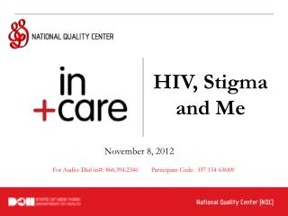 HIV, Stigma and Me
