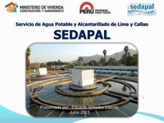 Servicio de Agua Potable y Alcantarillado de Lima y Callao SEDAPAL
