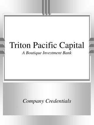 Triton Pacific Capital  A Boutique Investment Bank