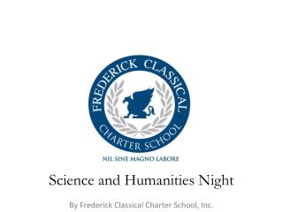Science and Humanities Night