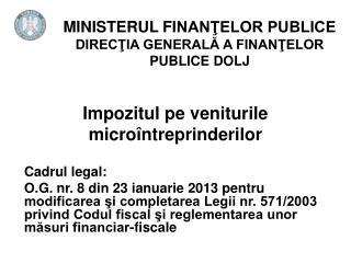 Impozitul pe veniturile microîntreprinderilor