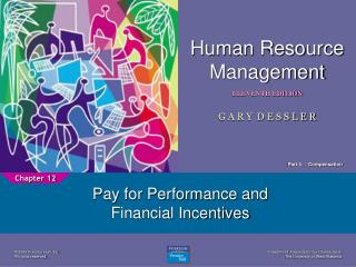 Pay for Performance and Financial Incentives
