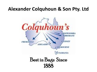 Alexander Colquhoun & Son Pty. Ltd