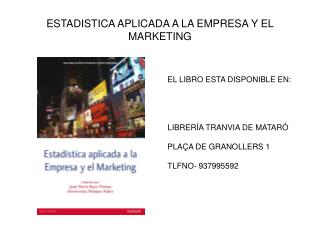 ESTADISTICA APLICADA A LA EMPRESA Y EL MARKETING