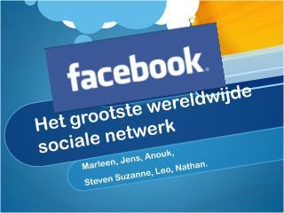 Het  grootste wereldwijde sociale netwerk