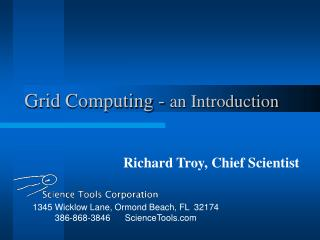 Grid Computing - an Introduction