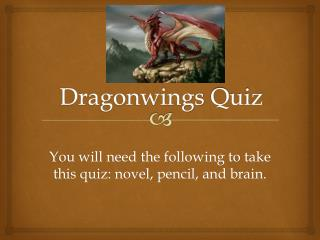 Dragonwings  Quiz