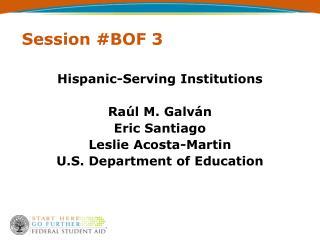 Session #BOF 3