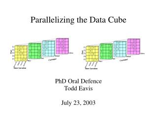 Parallelizing the Data Cube