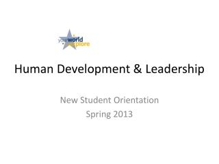 Human Development & Leadership