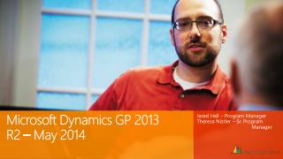 Microsoft  Dynamics GP  2013 R2 – May 2014