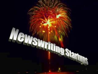 Newswriting Startups