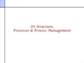 OS Structure, Processes & Process Management