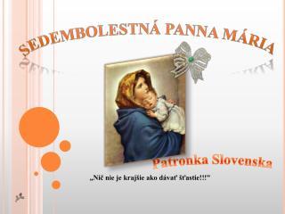 Patronka Slovenska