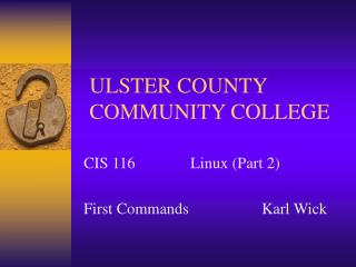 ULSTER COUNTY COMMUNITY COLLEGE