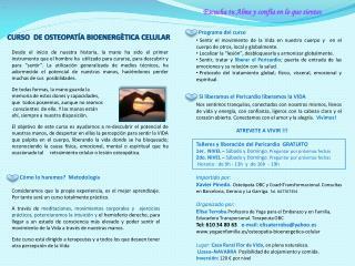 CURSO   DE OSTEOPATÍA  BIOENERGÈTICA CELULAR