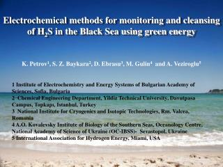 Electrochemical methods for monitoring and cleansing of H 2 S in the Black Sea using green energy