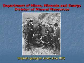 Department of Mines, Minerals and Energy Division of Mineral Resources