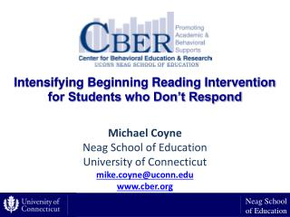 Intensifying Beginning Reading Intervention for Students who Don't Respond