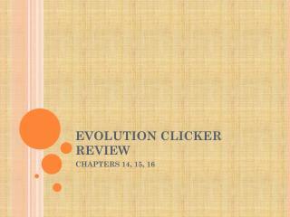 EVOLUTION CLICKER REVIEW