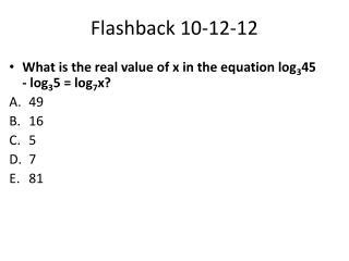 Flashback 10-12-12