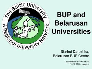 BUP and  Belarusan Universities