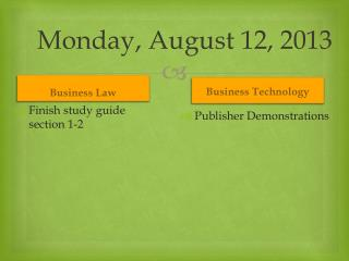 Monday, August 12, 2013